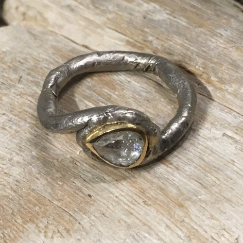 INFINITE LOVE RING CRAFTSMAN RING GOLD DIAMOND ENGAGEMENT RING