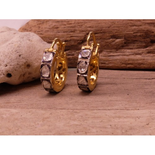 POLKI DIAMONDS HOOPS