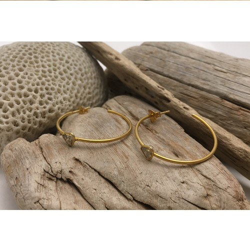 SIMPLE LOVE HOOPS DIAMOND