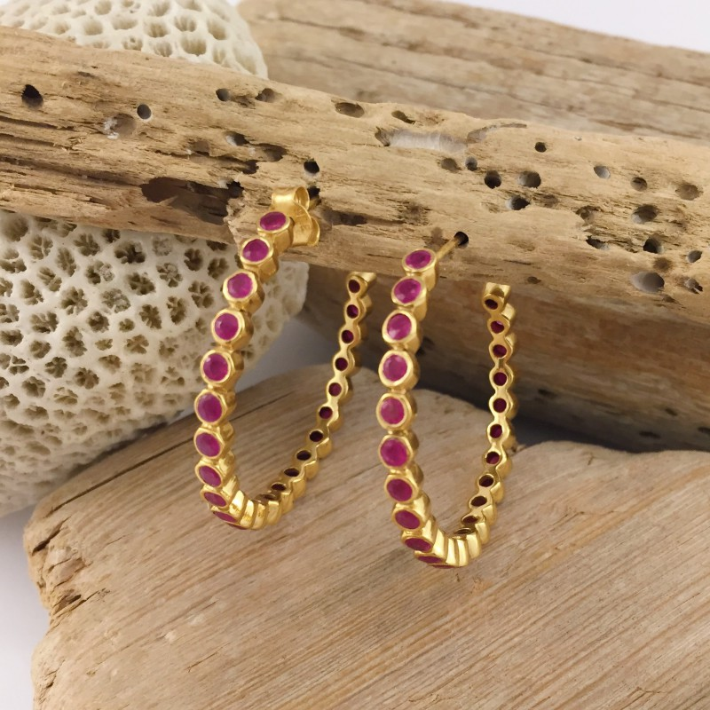 ABRIL HOOPS NATURAL STONE