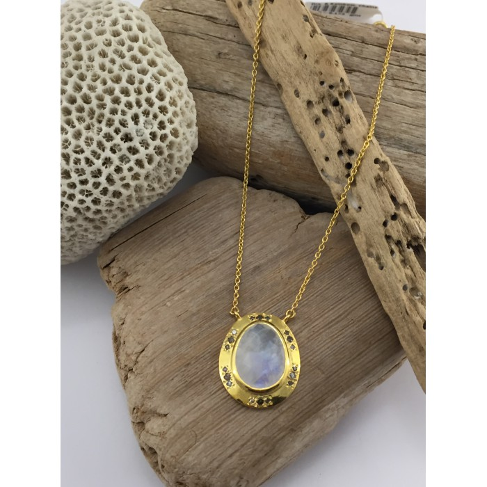 DEESSA CHAIN MOONSTONE DIAMONDS