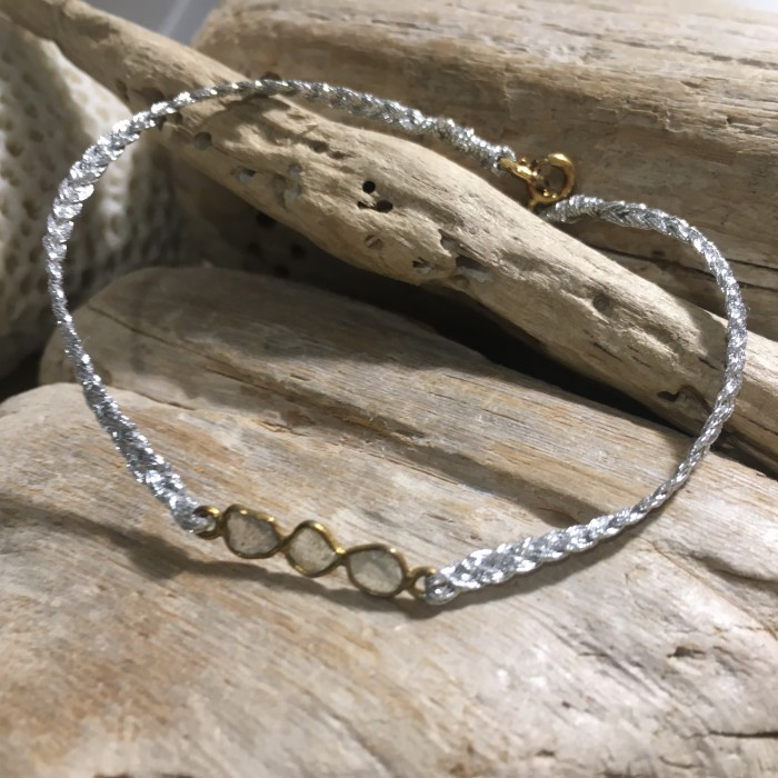 SIMPLE LOVE 3 DIAMONDS BRACELET